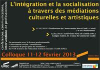 Colloque L'intégration et la socialisation à travers des médiations culturelles et artistiques